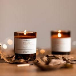 Candle and Autumnal Leaves