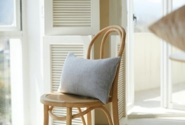 Cushion on Wooden Chair