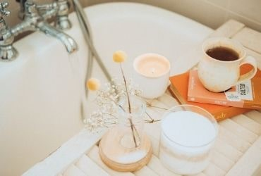 Bath, Candle and Coffee